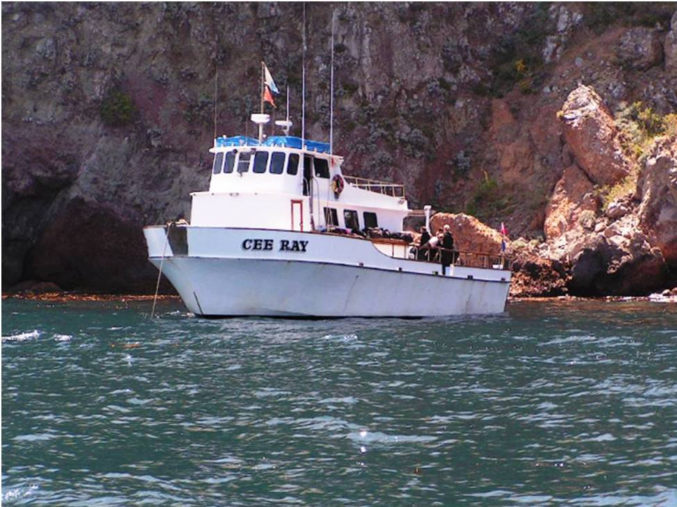 Catalina 2 Day Trip aboard the Cee Ray Oct 30-31 2021