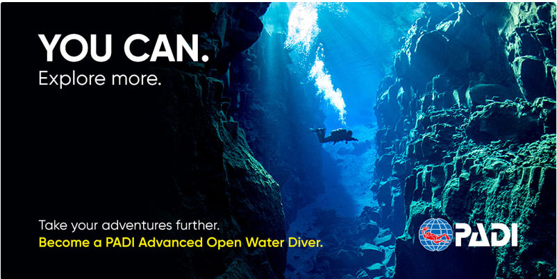 PADI ADVANCED OPEN WATER    --