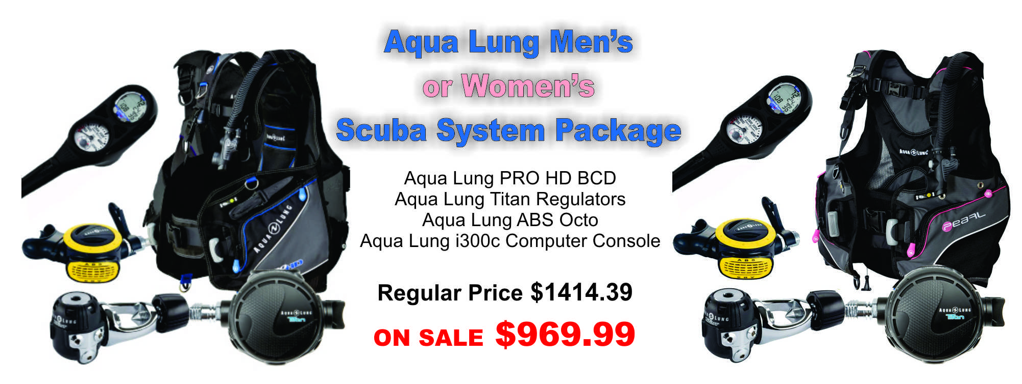 Aqua Lung Complete Scuba gear Packages