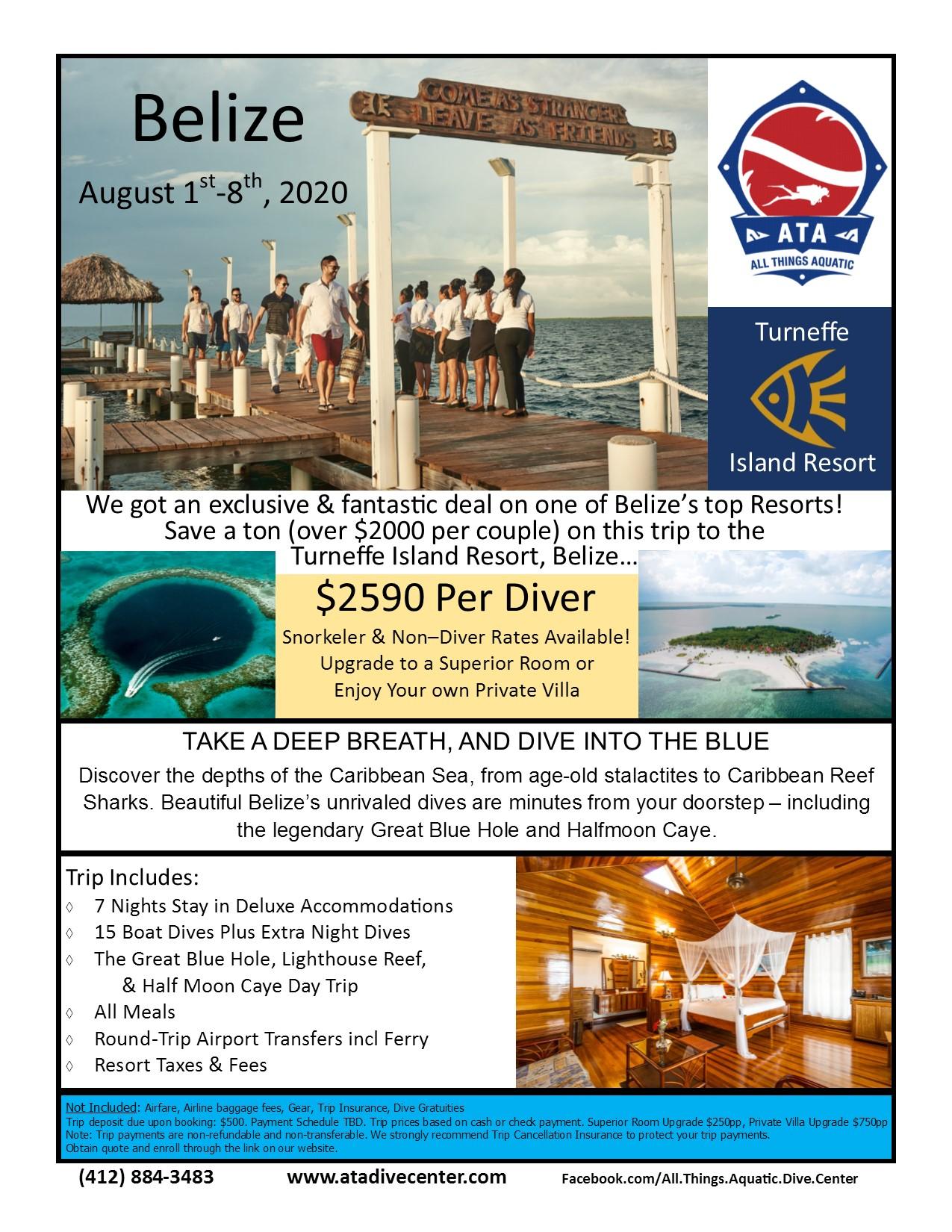 Belize - Turneffe Island Resort Aug 1st-8th, 2020