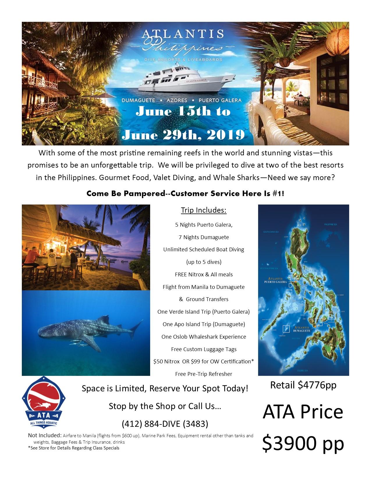 Atlantis Philippines June 15th-29th, 2019
