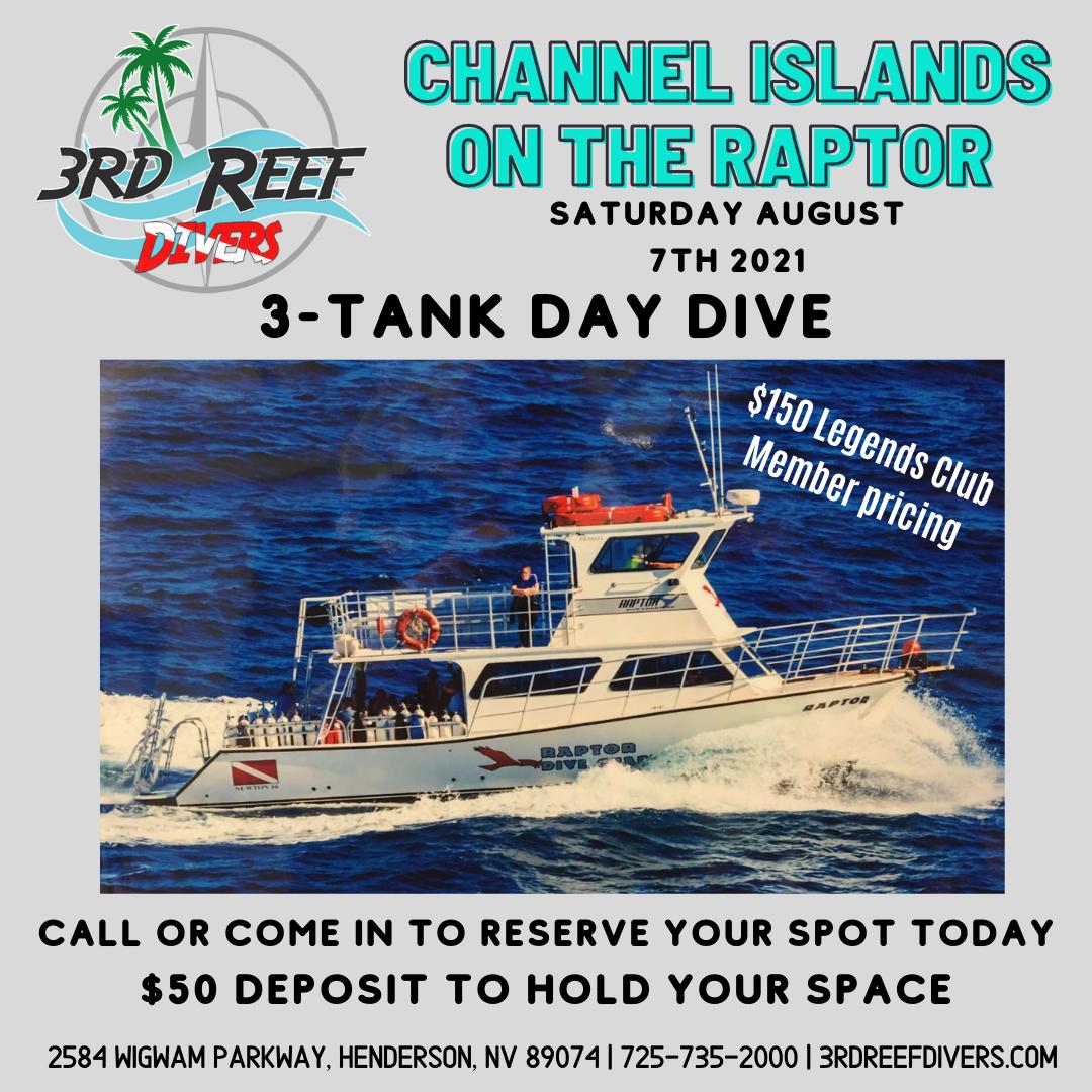 Channel Islands The Raptor 3-Tank Dive